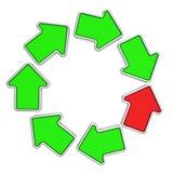 Lazo de flechas Fotografía de archivo libre de regalías