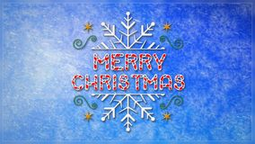 Lazo de Frost de ventana del copo de nieve de la Feliz Navidad 4K libre illustration