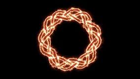 lazo de giro del símbolo céltico del fuego 4k ilustración del vector