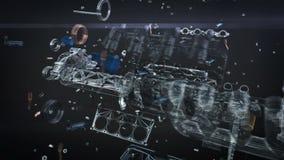 Lazo de la animación del motor de coche ilustración del vector