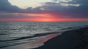 Lazo de la cantidad de la posluminiscencia de la puesta del sol de Sanibel metrajes