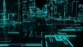 Lazo de la ciudad de la red de Digitaces - verde libre illustration