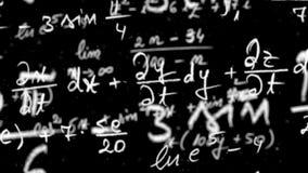 Lazo de la ecuación de la matemáticas con mate alfa almacen de metraje de vídeo