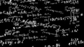 Lazo de la ecuación de la matemáticas con mate alfa almacen de video