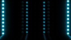 LAZO de la exploración horizontal 4K de la etapa de la bombilla 3d pálido - verde almacen de video