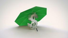 Lazo de la protección del dólar stock de ilustración