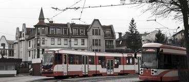 Lazo de la tranvía en Gdansk Imagenes de archivo