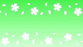Lazo de la voluta de la flor de cerezo libre illustration