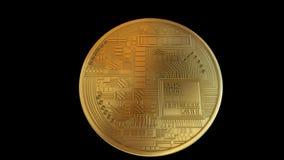 Lazo de la vuelta de Bitcoin ilustración del vector