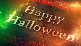 Lazo de los animales atropellados 4K del feliz Halloween stock de ilustración