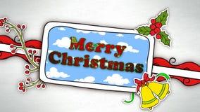 Lazo de los recortes 4K de la historieta de la Feliz Año Nuevo de la Feliz Navidad metrajes