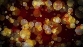 Lazo de oro 4k del fondo de las partículas de Bokeh ilustración del vector