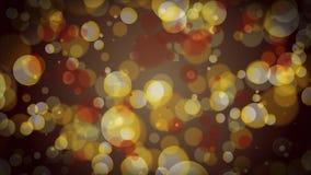 Lazo de oro 4k del fondo de las partículas de Bokeh libre illustration