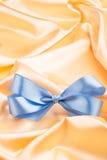 Lazo de satén de Blue Ribbon Fotografía de archivo