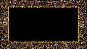 Lazo decorativo del marco del vintage con el canal alfa stock de ilustración