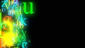 Lazo del alfabeto que fluye ilustración del vector
