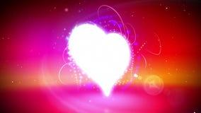 Lazo del corazón del amor ilustración del vector