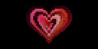 Lazo del corazón del pixel ilustración del vector