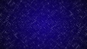 Lazo del fondo de Digitaces Vuelo abstracto de los puntos en diversas direcciones en un fondo azul almacen de metraje de vídeo