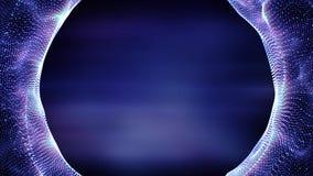 Lazo del fondo del movimiento del túnel 4K de la partícula libre illustration