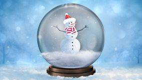 Lazo del globo 4K de la nieve del muñeco de nieve libre illustration