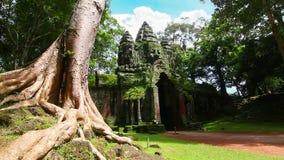 Lazo del lapso de tiempo del templo de Angkor Thom almacen de video