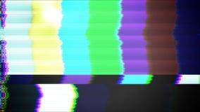 Lazo del modelo de prueba de la TV almacen de metraje de vídeo