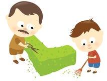 Lazo del padre y del hijo ilustración del vector