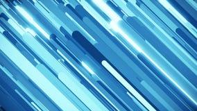 Lazo diagonal azul abstracto del fondo de la raya que brilla intensamente stock de ilustración
