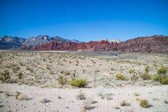 Lazo en área roja de la protección del barranco de la roca, Nevada de Meonkopi imágenes de archivo libres de regalías