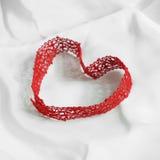 Lazo en forma de corazón Fotografía de archivo libre de regalías