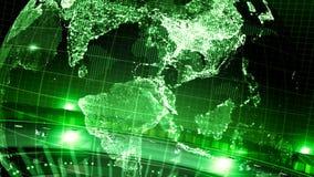 Lazo girado de la introducción de las noticias de la tierra verde almacen de video