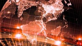 Lazo girado tierra roja de la introducción de las noticias almacen de metraje de vídeo