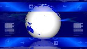 LAZO giratorio del globo stock de ilustración