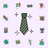 Lazo, icono verde Sistema universal de los iconos del d?a de StPatricks para la web y el m?vil ilustración del vector