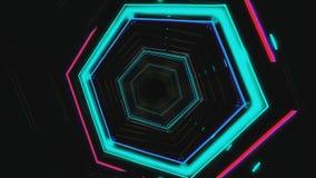 Lazo inconsútil de HUD del túnel azul futurista VJ del maleficio gráficos de neón del movimiento 4K para el LED libre illustration