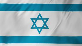 Lazo inconsútil de la bandera de Israel que agita 2 en 1 metrajes