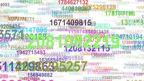 Lazo inconsútil del flujo de datos de los números al azar ilustración del vector