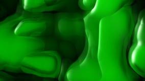 Lazo inconsútil del fondo líquido verde del movimiento almacen de metraje de vídeo