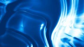 Lazo inconsútil del fondo sedoso azul abstracto almacen de metraje de vídeo