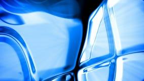 Lazo inconsútil del metal del extracto del fondo azul del movimiento almacen de metraje de vídeo