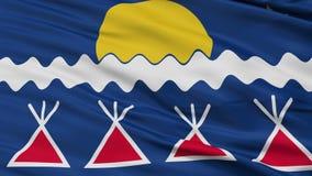 Lazo inconsútil del primer indio de la bandera de la tribu de los nativos americanos stock de ilustración
