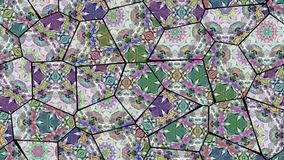 Lazo inconsútil del vj caleidoscópico del mosaico almacen de video
