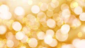Lazo inconsútil - el bokeh del día de fiesta del oro enciende el fondo, vídeo de HD almacen de metraje de vídeo