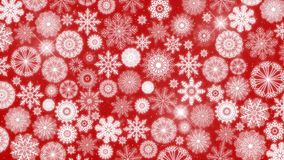 lazo inconsútil 4k del fondo de los copos de nieve de la Navidad stock de ilustración