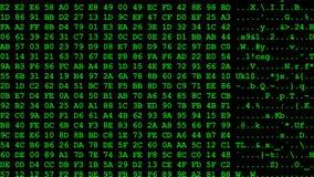 Lazo inconsútil 4k UHD del flujo de datos del ordenador stock de ilustración