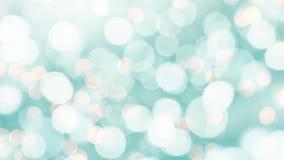 Lazo inconsútil - luces azules del bokeh del día de fiesta, vídeo de HD almacen de video