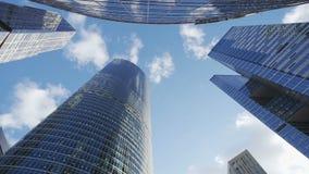 Lazo inconsútil - mirando para arriba los edificios del negocio almacen de video