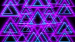 Lazo inconsútil ultravioleta del fondo de las luces de neón del extracto que brilla intensamente, 4K