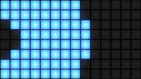 Lazo ligero del vj del fondo de la rejilla del disco que brilla intensamente del club nocturno de la pared azul de la sala de bai ilustración del vector